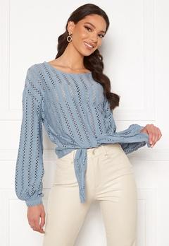 VILA Piline L/S T-Shirt Ashley Blue Bubbleroom.se