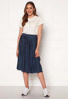 VILA Pliss Midi Skirt Navy Blazer Bubbleroom.se