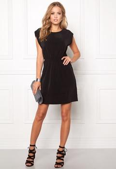 VILA Plissa Dress Black Bubbleroom.no
