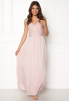 VILA Ponny Maxi Dress Peach Whip Bubbleroom.se