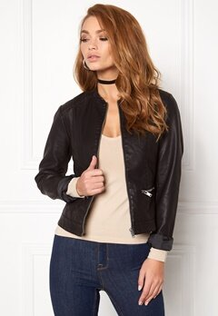 VILA Popular Jacket Black Bubbleroom.no