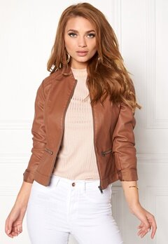 VILA Popular Jacket Oak Brown Bubbleroom.no