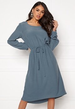VILA Primera Medi L/S Dress China Blue Bubbleroom.se