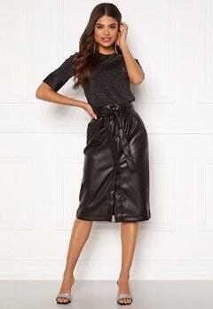 VILA Pulla HW Skirt Black Bubbleroom.se