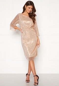 VILA Rama 3/4 Dress Silver Peony Bubbleroom.se