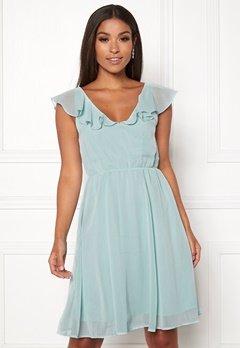 VILA Rannsil S/L Short Dress Blue Haze Bubbleroom.se