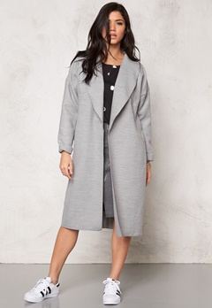 VILA Resin Jacket Light Grey Melange Bubbleroom.no