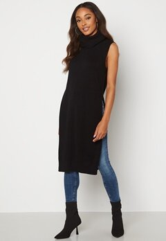 VILA Ril Long S/L Knit Vest Black Bubbleroom.se