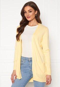 VILA Ril LS Open Knit Cardigan Mellow Yellow Bubbleroom.se