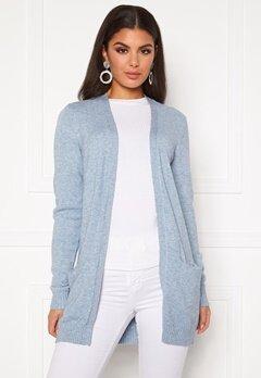 VILA Ril Open Knit Cardigan Ashley Blue Bubbleroom.se
