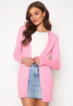 VILA Ril Open L/S Knit Cardigan Begonia Pink Melange Bubbleroom.se