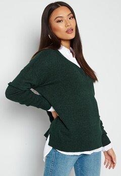 VILA Ril Oversize V-Neck Knit Top Darkest Spruce Bubbleroom.se