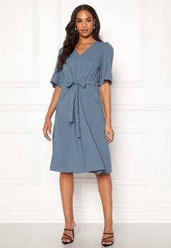 VILA Rissa S/S Dress China Blue Bubbleroom.se