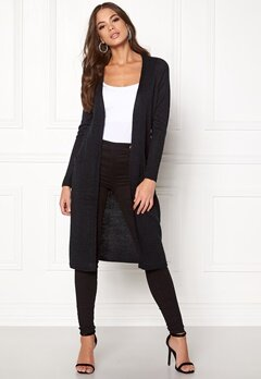 VILA Riva Long Cardigan Black Bubbleroom.eu