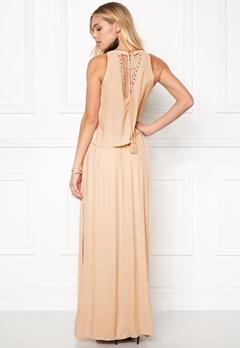 VILA Rosaly Maxi Dress Shifting Sand Bubbleroom.no