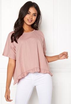 VILA Rose S/S T-shirt Adobe Rose Bubbleroom.se