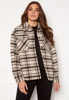 VILA Rubi Check Shirt Jacket Birch Checks Bubbleroom.se