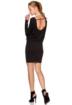 VILA Sadi L/S Dress Dark grey melange Bubbleroom.fi