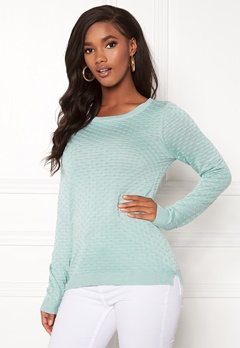 VILA Sarafina Knit Top Blue Haze Bubbleroom.se