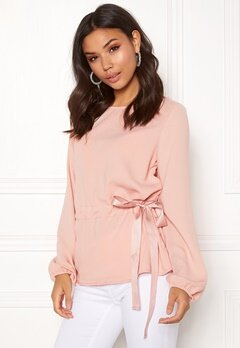 VILA Sarina L/S Top Rose Smoke Bubbleroom.se
