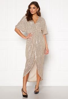 VILA Savias 2/4 Midi Dress Silver Peony Bubbleroom.se