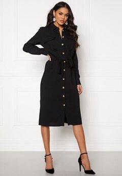 VILA Selina L/S Shirt Dress Black Bubbleroom.se
