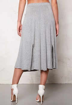 VILA Semra long skirt Light Grey Melange Bubbleroom.fi