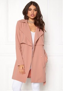 VILA Sensa Long Jacket Rose Dawn Bubbleroom.se