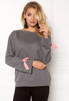 VILA Senta Sweat Medium Grey Melange Bubbleroom.se
