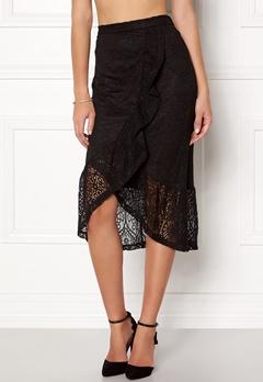 VILA Sepra Flounce Lace Skirt Black Bubbleroom.se