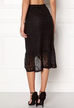 VILA Sepra Flounce Lace Skirt Black Bubbleroom.fi