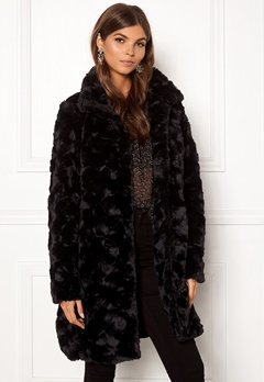 VILA Seria Coat Black Bubbleroom.se