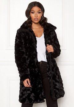 VILA Seria Coat Black Bubbleroom.se