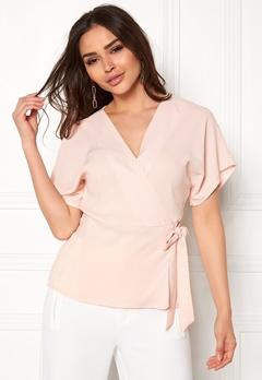 VILA Shadina S/S Cover Up Peach Blush Bubbleroom.se