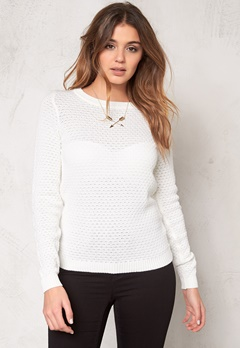 VILA Share Knit Top Pristine Bubbleroom.no