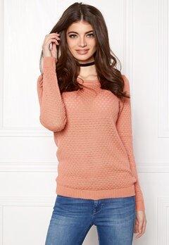 VILA Share Knit Top Rose Dawn Bubbleroom.no