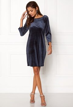 VILA Sienna 3/4 Sleeve Dress Dark Navy Bubbleroom.se
