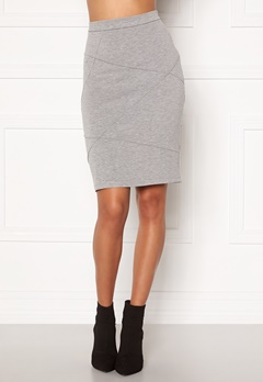 VILA Sif New Pencil Skirt Light Grey Melange Bubbleroom.se