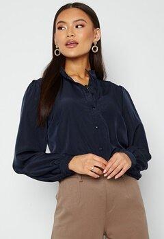 VILA Simple L/S Button Shirt Navy Blazer Bubbleroom.se