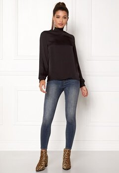 VILA Sirid L/S Top Black Bubbleroom.se