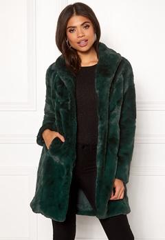 VILA Softa Faux Fur Coat Pine Grove Bubbleroom.se