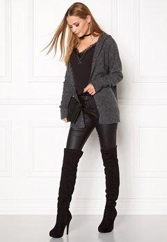 VILA Sondo l/s Knit Cardigan Medium Grey Melange Bubbleroom.se