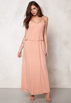 VILA Sora Maxi Dress Pink Sand Bubbleroom.no