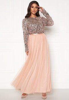 VILA Sparrow L/S Maxi Dress Rose Smoke Bubbleroom.se