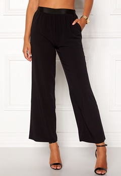 VILA Split Flared Pants Black Bubbleroom.se