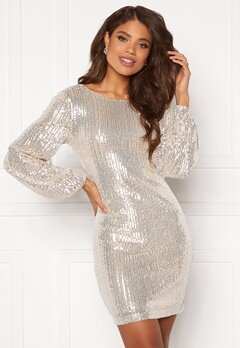 VILA Starlan L/S Dress Frosted Almond Bubbleroom.se