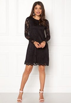 VILA Stasia Lace A-Shape Dress Black Bubbleroom.fi