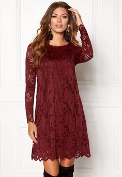 VILA Stasia Lace A-Shape Dress Cabernet Bubbleroom.eu
