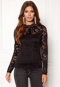 VILA Stasia  L/S Lace Top Black Bubbleroom.dk