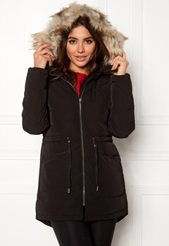 VILA Stormy Down Coat Black Bubbleroom.se